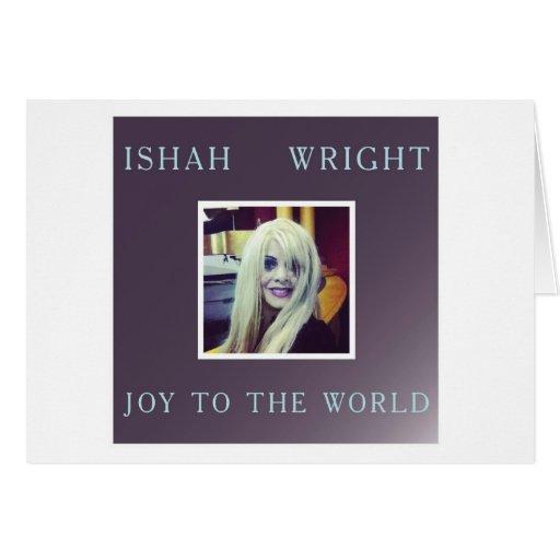Ishah Freude zum Weltweihnachten Notecard Grußkarten