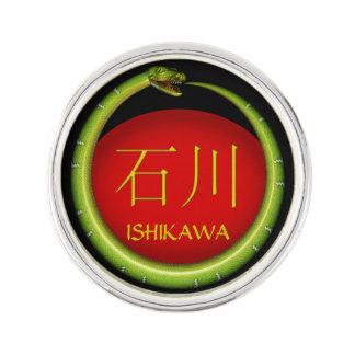 Ishikawa-Monogramm-Schlange Anstecknadel
