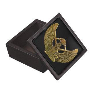 Isis-Amulett-Gold Schmuckkiste