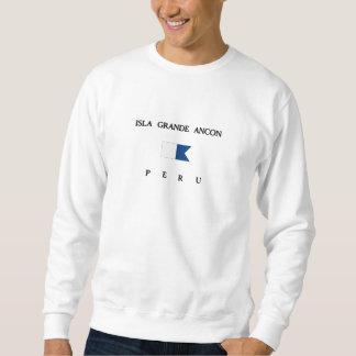 Isla Alphatauchen-Flagge großer Ancon-Perus Sweatshirt