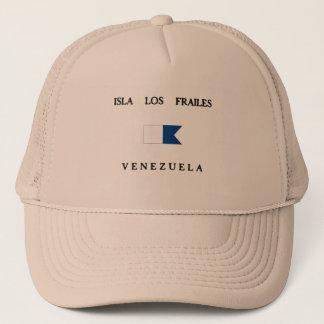 Isla Los Frailes Venezuela Alphatauchen-Flagge Truckerkappe