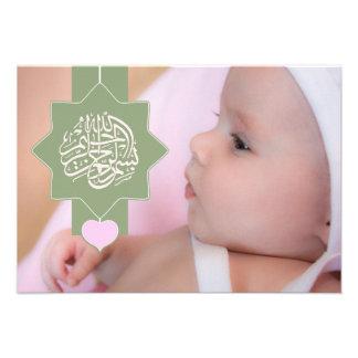 Islam islamische Aqiqah Aqeeqah Baby-Fotoeinladung