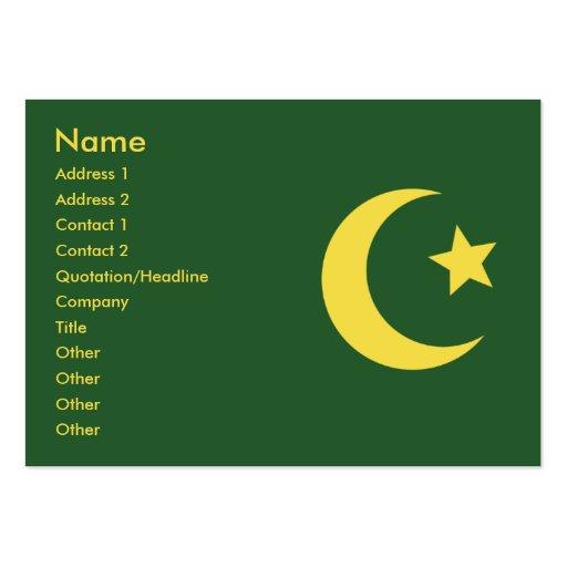 Islam mollig mini visitenkarten zazzle for Visitenkarten gratis vorlagen