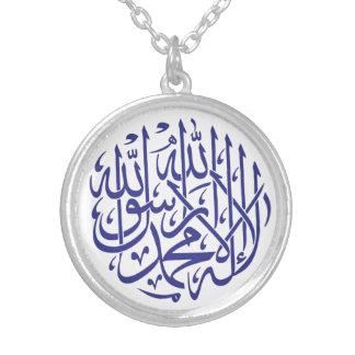 Islam-Moslem-Kalligraphie Allahs Alhamdulillah Versilberte Kette