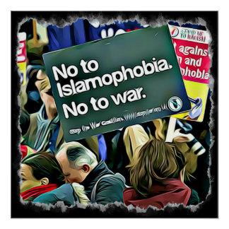 Islam-Unterscheidungs-Protest-Zeichen-Plakat Poster
