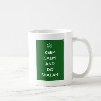 Islamisch behalten Sie ruhigen Slogan-Ausdruck Kaffeetasse