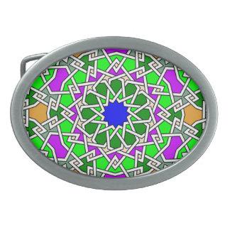 Islamische geometrische Muster ovale Ovale Gürtelschnallen