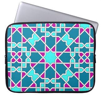 Islamische geometrische Muster-Rickshawhülse Laptop Sleeve