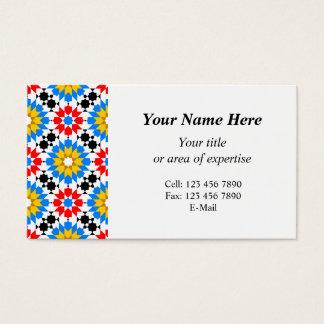 Islamische geometrische Muster Visitenkarte