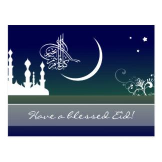 Islamischer Himmelmoschee Eid Adha Fitr arabischer Postkarte