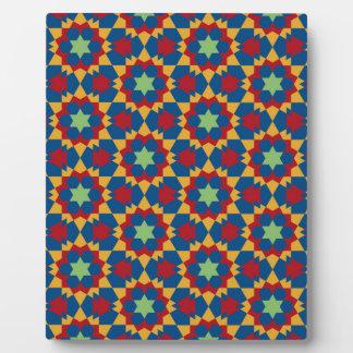 islamisches geometrisches Muster Fotoplatte