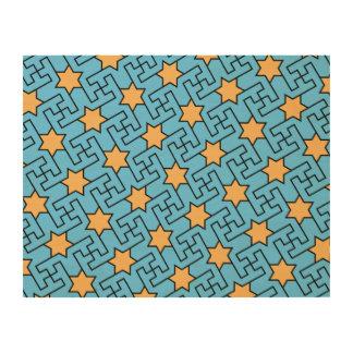 Islamisches geometrisches Muster Holzdruck