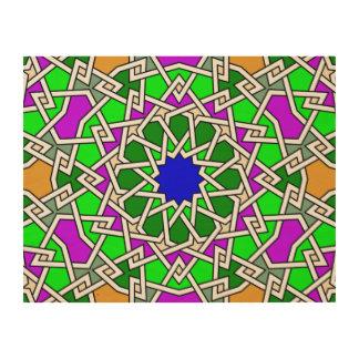 Islamisches geometrisches Muster Holzleinwand
