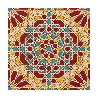 Islamisches geometrisches Muster Holzwanddeko