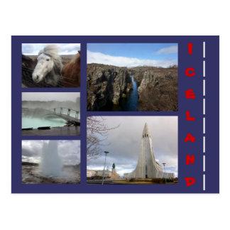 Island-Collage 1 Postkarte