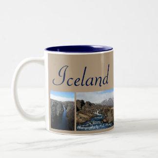 Island-Collage Zweifarbige Tasse
