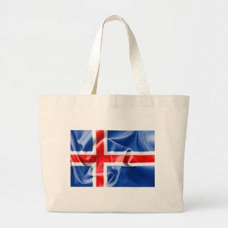 Island-Flagge Jumbo Stoffbeutel