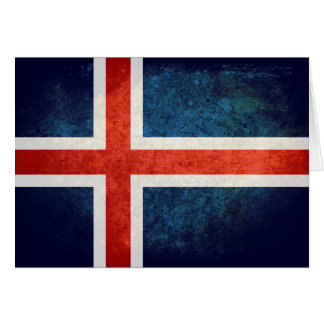 Island-Flagge Mitteilungskarte