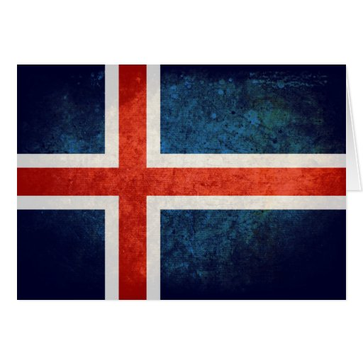 Island-Flagge Grußkarten