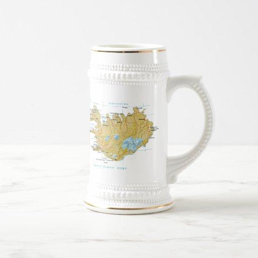 Island-Flagge ~ Karten-Tasse