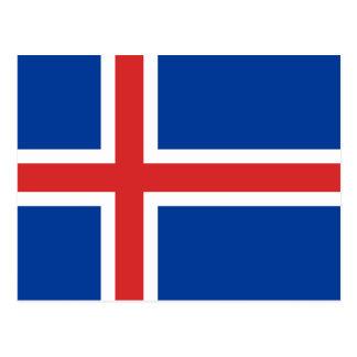 Island-Flagge Postkarte
