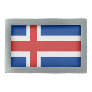 Island-Flaggenentwurf auf Produkten Rechteckige Gürtelschnalle