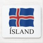 Island Iceland flag Mousepad