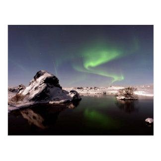Island im Winter Postkarte