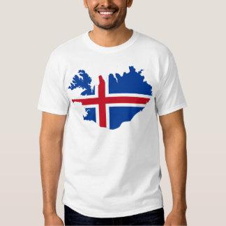 Island IST Ísland Flaggenkarte T Shirt