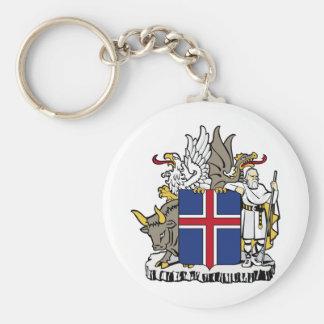 Island IST Ísland Wappen Standard Runder Schlüsselanhänger