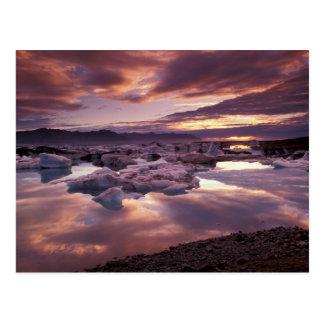 Island, Jokulsarlon Lagune, Landschaft Postkarte