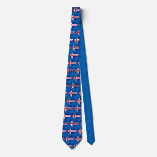 Island-Landesflagge Krawatte