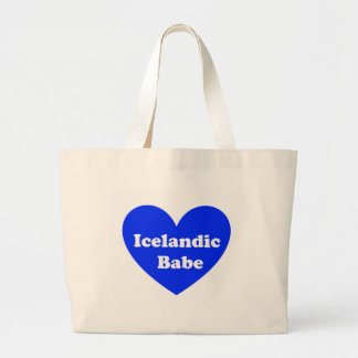 Island-Mädchen Jumbo Stoffbeutel