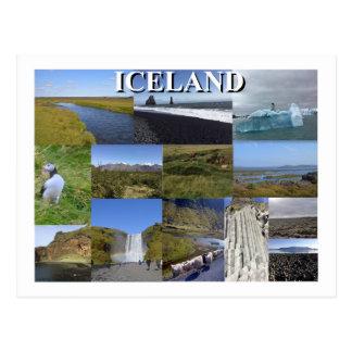 Island-Sommer-Landschaften Postkarte