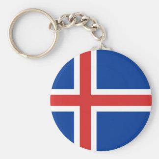 Island Standard Runder Schlüsselanhänger