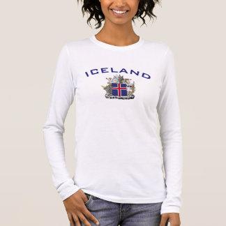 Island-Wappen Langarm T-Shirt
