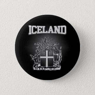 Island-Wappen Runder Button 5,1 Cm