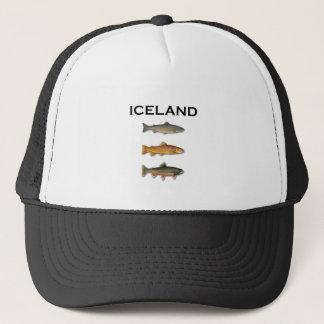 Islandfrischwasserfischen Truckerkappe