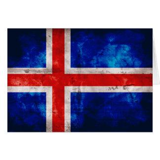 Isländische Flagge Mitteilungskarte