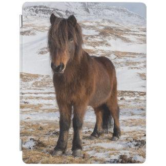Isländische Pferde im Winter iPad Hülle