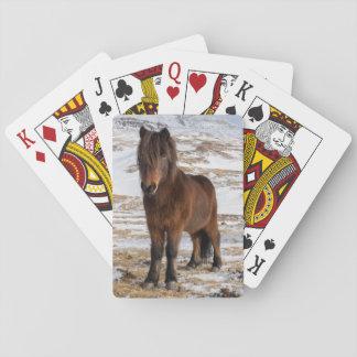 Isländische Pferde im Winter Spielkarten