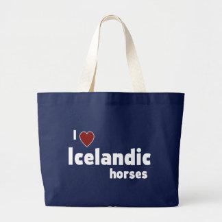 Isländische Pferde Jumbo Stoffbeutel