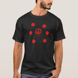Isländische Sprache und Friedenssymbol-Entwurf T-Shirt