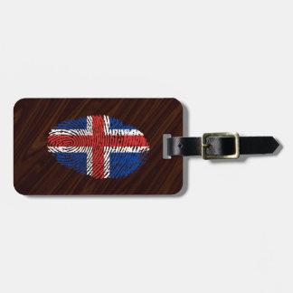 Isländische Touchfingerabdruckflagge Gepäckanhänger