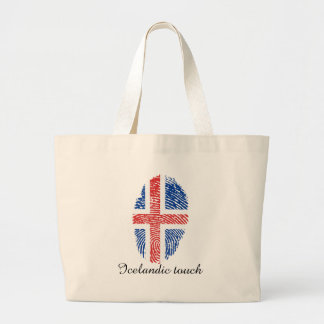 Isländische Touchfingerabdruckflagge Jumbo Stoffbeutel