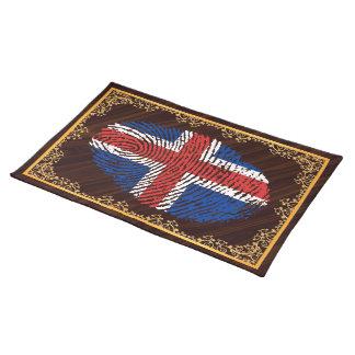 Isländische Touchfingerabdruckflagge Tischset