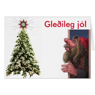 Isländische Weihnachtskarte Karte