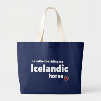 Isländisches Pferd Jumbo Stoffbeutel