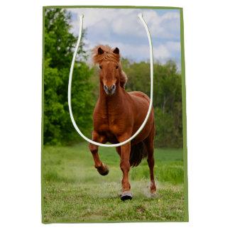 Isländisches Pony lässt Tölt lustige Mittlere Geschenktüte