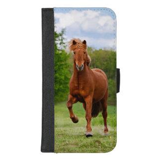 Isländisches Pony Tölt an den lustigen iPhone 8/7 Plus Geldbeutel-Hülle
